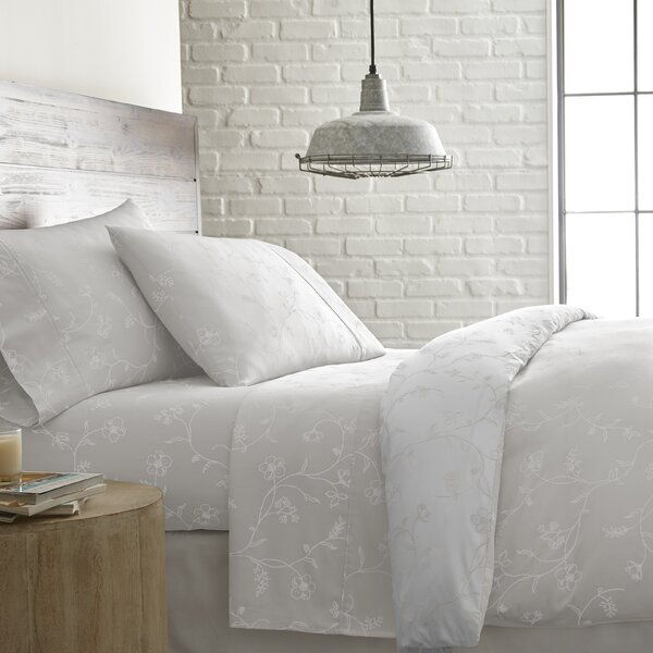 Lockport Printed 300 Thread Count 100% Cotton Sheet Set by Charlton Home